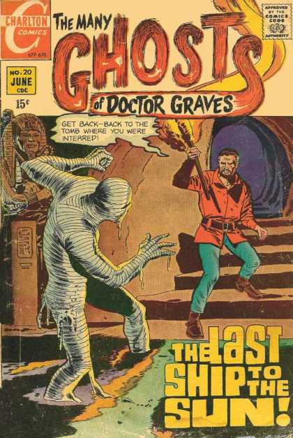 Many Ghosts of Dr. Graves 20 - No 20 - Mummy - Torch - The Last Ship To The Sun - Sarcophagus