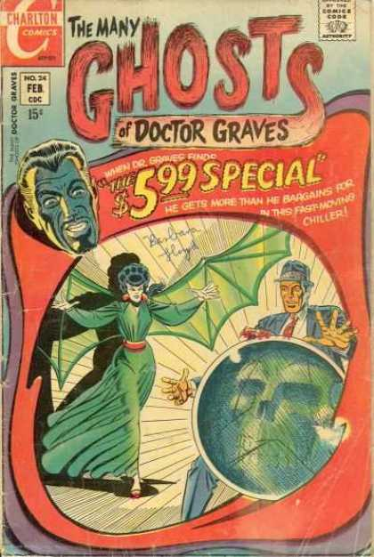 Many Ghosts of Dr. Graves 24 - The 599 Special - No 24 - Feb - Bat Woman - Skull