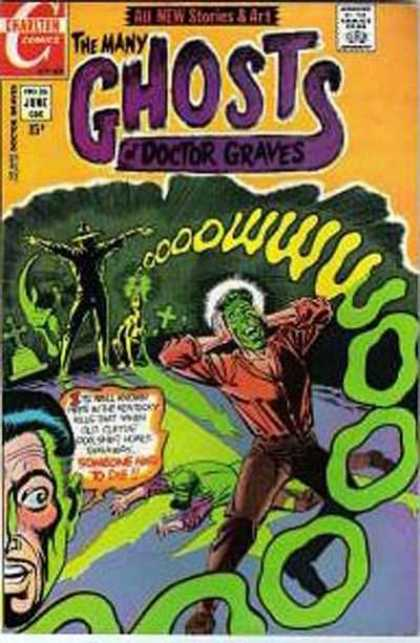 Many Ghosts of Dr. Graves 26 - All New Stories And Art - Cross - Headstone - Moon - Charlten Comics
