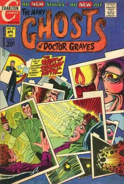 Many Ghosts of Dr. Graves 31 - Approved By The Comics Code Authority - Cnartlon Comics - New Stories - New Art - No31 Apr