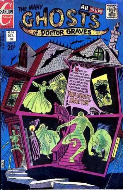 Many Ghosts of Dr. Graves 34 - Haunted House - Oct - No 34 - The Ghost Master - Monsters