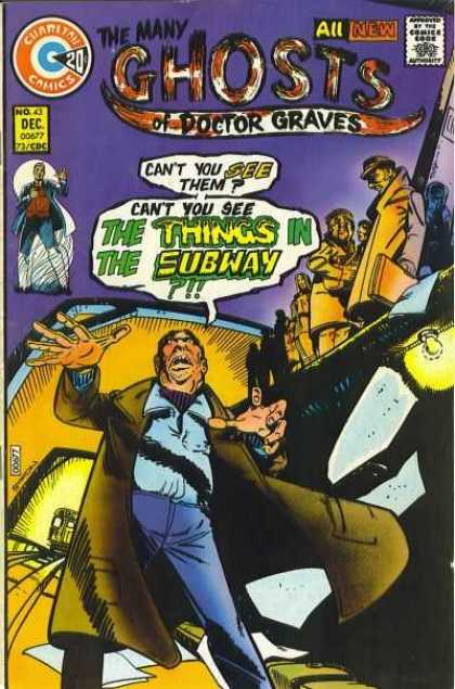 Many Ghosts of Dr. Graves 43 - Subway - Train - Crowd - Ghost Stories - Charlton - Joe Staton