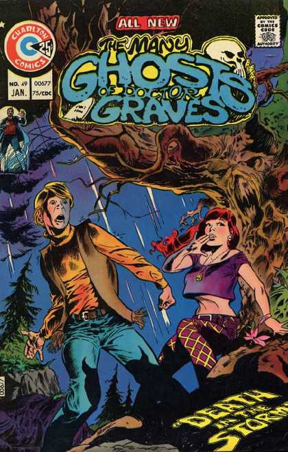 Many Ghosts of Dr. Graves 49 - Charlton Comics - Steve Ditko - Dr Mt Graves - Ghostly Tales - 72 Issues