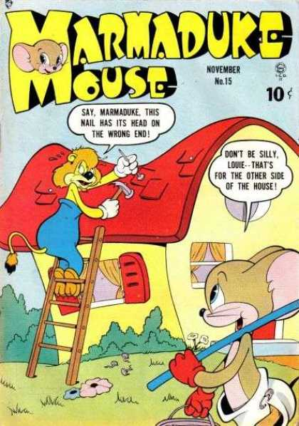 Marmaduke Mouse 15 - House - Ladder - Shutters - Windows - Roof