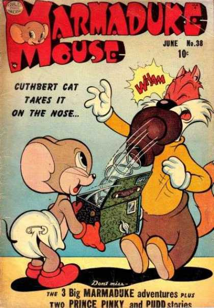 Marmaduke Mouse 38 - Cuthbert Cat - Boxing Glove - Jack-in-the-box - Prince Pinky - Pudd
