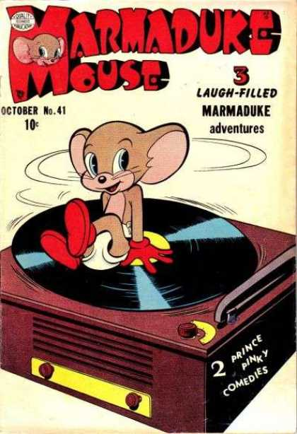 Marmaduke Mouse 41 - Turntable - Lp - Spinning - Gloves - Record Player