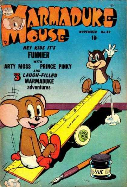 Marmaduke Mouse 42 - Arty Moss - Prince Pinky - Ruler - Ink - Pen