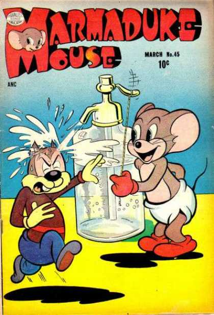 Marmaduke Mouse 45 - Bottle - Water From The Bottle - Tail - Laughing - Enjoying