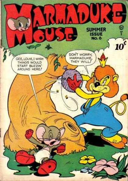 Marmaduke Mouse 6 - 10 Cents - Tree - Summer Issue - Speech Bubble - Beehive