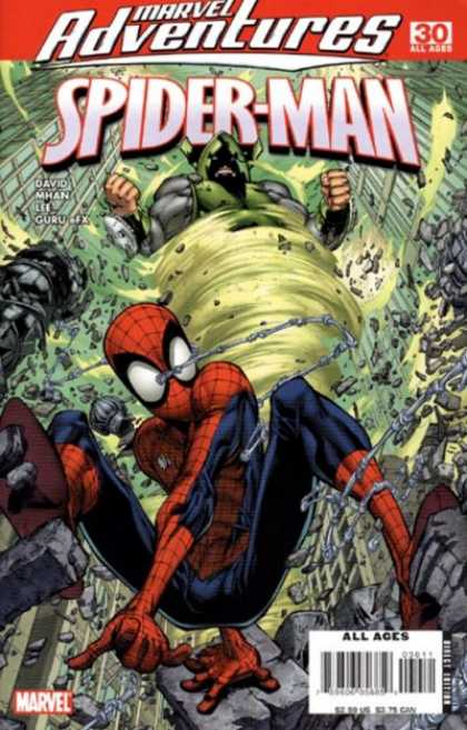 Marvel Adventures Spider-Man 30 - Destruction - Whirlwind Monster - City - David Mhan - Frenzy Monster