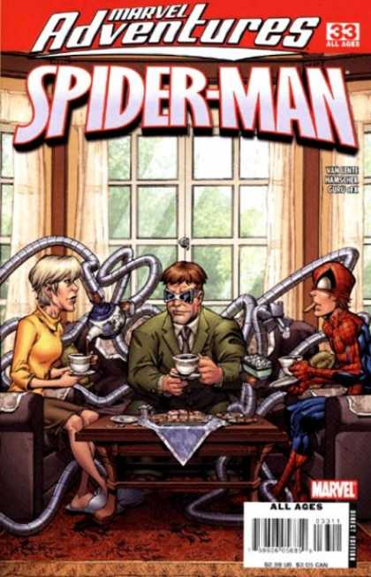 Marvel Adventures Spider-Man 33 - Octupus - Scientist - Woman - Black Glasses - Windows