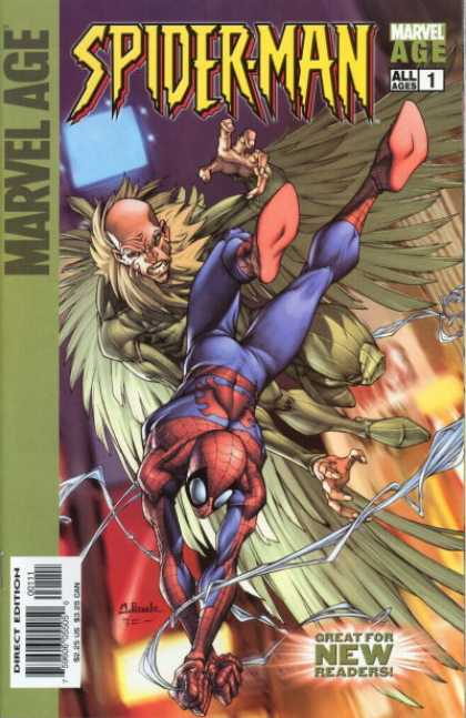 Marvel Age Spider-Man 1 - Spiderman - Computers - Eagle Man - Fighting - Megamag