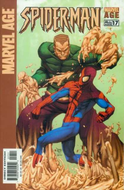 Marvel Age Spider-Man 17 - All Ages 17 - Spider-man - Hulk - Fighting - Direct Edition