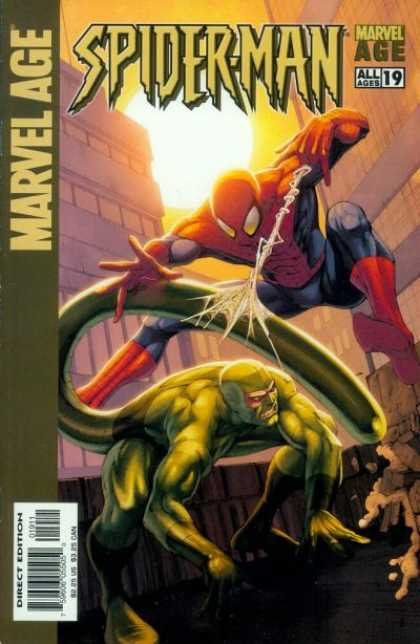 Marvel Age Spider-Man 19 - Marvel - Spidey - Scorpion - Web Slinger - Spider-man Vs Scoripon