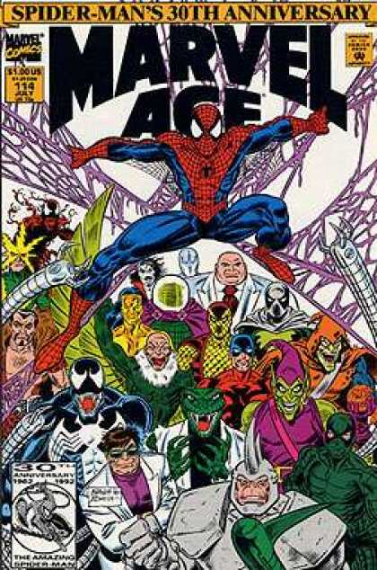 Marvel Age 114 - July - Spider-man - Superhero - 30th Anniversary - Comics Code Authority - Mark Bagley