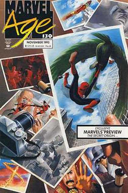 Marvel Age 130 - Novermber 1993 - Marvels Preview - The Secret Origin - Spider Man - Iron Man