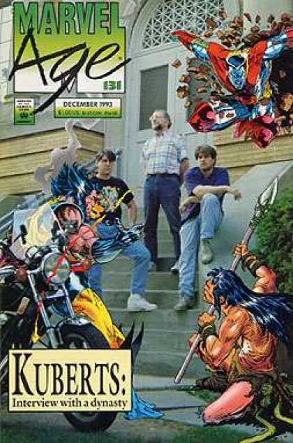 Marvel Age 131 - Kuberts - Comics And Real People - Wolverine - Number 131 - Motorcycle - Adam Kubert, Andy Kubert