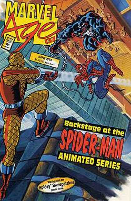 Marvel Age 137 - Spider-man - Brick Wall - Backstage - Spidey Sweepstakes - Rooftop