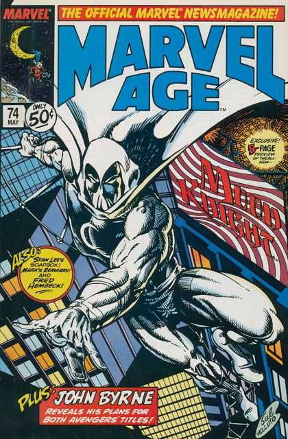 Marvel Age 74 - Moon Knight - Stan Lee - Mark Remarks - Fred Hembeck - Moon