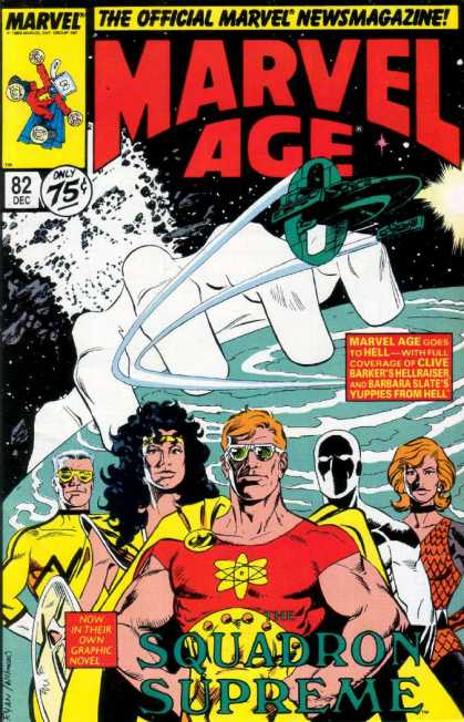 Marvel Age 82 - Marvel - Space - Squadron Supreme - Space Ship - Superhero