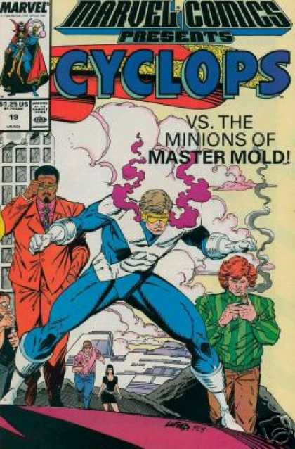 Marvel Comics Presents 19 - Cyclops - Minions - Master Mold - Clouds - Man Adjusting Glasses - Rob Liefeld