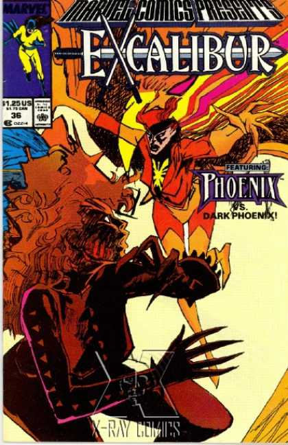 Marvel Comics Presents 36 - Phoenix - Dark Phoenix - Bland Cover - Batgirl On Upper Left Hand Corner - Excalibur - Bill Sienkiewicz