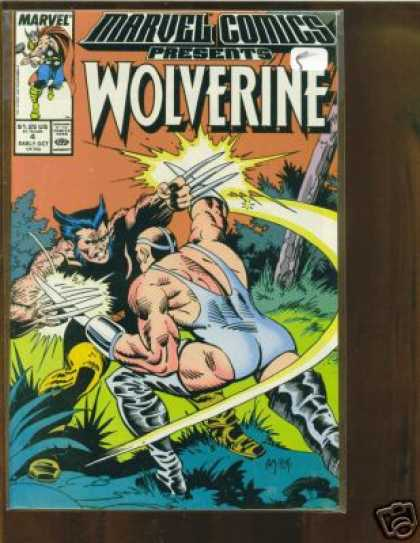 Marvel Comics Presents 4 - Claws - Fight - Woods - Intense - Wolverine