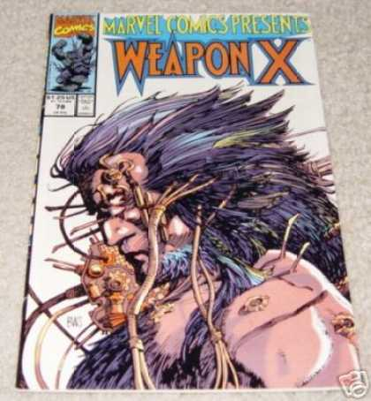 Marvel Comics Presents 78 - Weapon X - Robotic - Long Hair - Man - Machinery - Barry Windsor-Smith