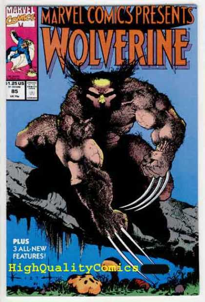 Marvel Comics Presents 85 - Volverine - Approved By The Comics Code Authority - 125 Us - High Quality Comics - 3 All New Features - Sam Kieth