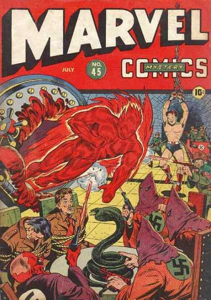 Marvel Comics 45 - What A Party - Fireball - The Nazi Orgy - Kkk Gone Wildq - The Little Boy In Chains