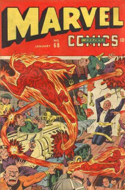 Marvel Comics 68 - Trident - Fire - Guns - Tank - Mystery