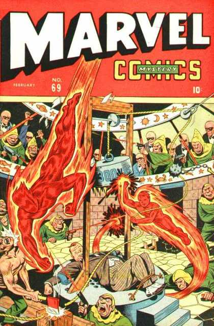 Marvel Comics 69 - Mystery - February - Human Torch - Axe - 10 Cents