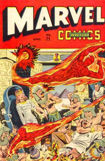 Marvel Comics 71 - Human Torch - Rescue - Pyramids - Egyptians - Desert