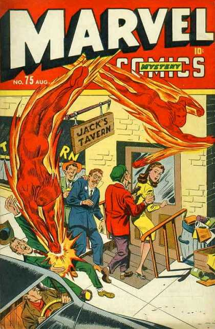 Marvel Comics 75 - Mystery - No 75 - Jacks Tavern - Fire Man - Bar