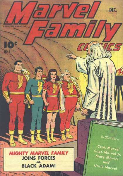 Marvel Family 1 - Captain Marvel - December - Black Adam - Family - Mighty - Clarence Beck