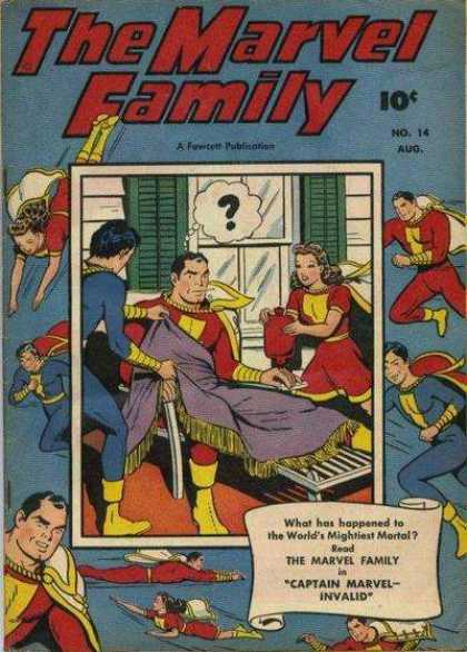 Marvel Family 14 - Marvel Family - 10 C - Worlds Mightiest Mortal - Captain Marvel - Invalid