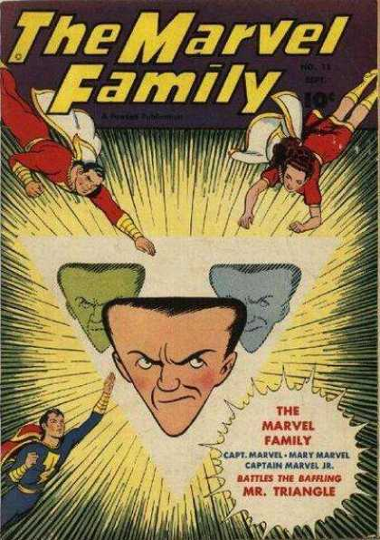 Marvel Family 15 - Superhero - Triangle - Head - Battle - Woman