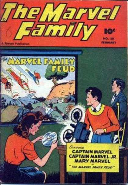 Marvel Family 20 - Family Feud - Marvel - Mary - Projector - Fighting
