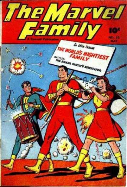 Marvel Family 23 - Father - Daughter - Son - Fireworks - Drum