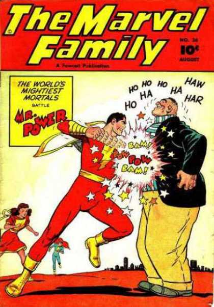 Marvel Family 26 - The Worlds Mightiest Mortals - Mrpower - Battle - Fat Man - Costume