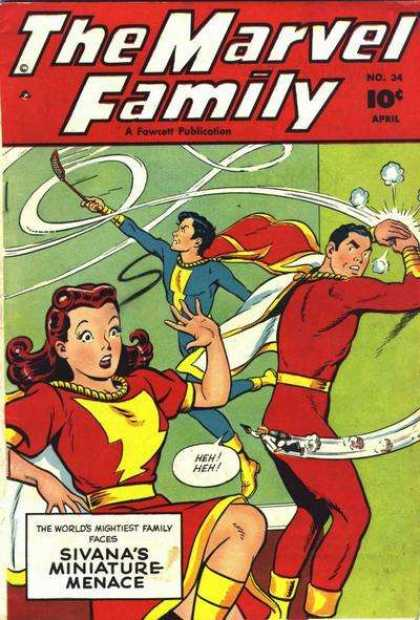 Marvel Family 34 - Swat A Way To Go - Flying Fun - Evil In Miniature - Spray Away - Family Fear Fearsome Flying Fly-sized Foe