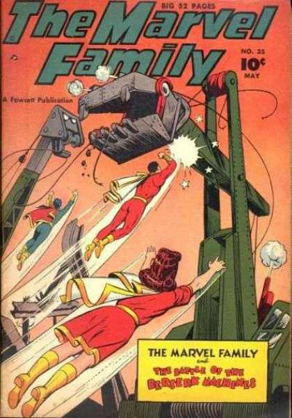 Marvel Family 35 - May - 10 Cents - Fawcett - Machine - Superhero