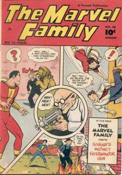Marvel Family 38 - August - Sivanas Instinct Exterminator Gun - Mad Scientist - No 38 - Red Suit