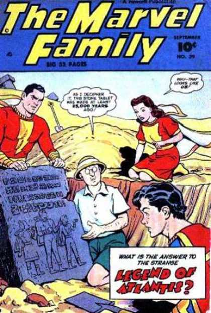 Marvel Family 39 - Legend - Superwoman - Desert - Crypt - Secret