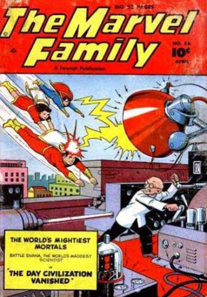 Marvel Family 46 - Fly - Hero - Triumph - Man - Run