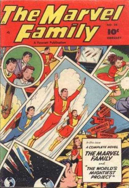 Marvel Family 56 - The Worlds Mightiest Project - Photographs - Snapshots - Red Uniforms - Family