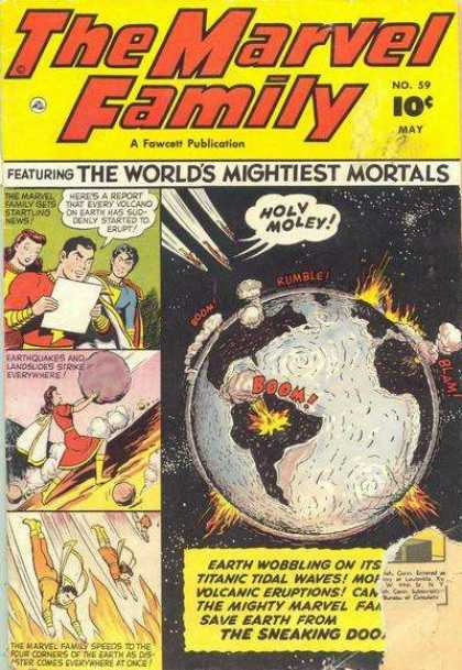 Marvel Family 59 - Plane Earth - Explosions - Stars - Woman - Men