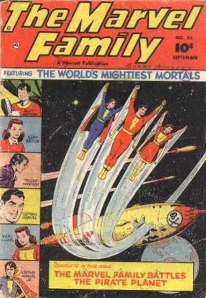 Marvel Family 63 - Pirate - Planet - Rocket - Earth - Space