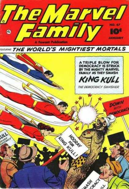 Marvel Family 67 - The Worlds Mightiest Mortals - King Kull - Costume - Superheroes - Battle