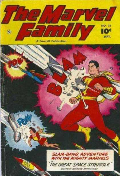 Marvel Family 75 - Missles - Flying - Pow - Space - White Cape